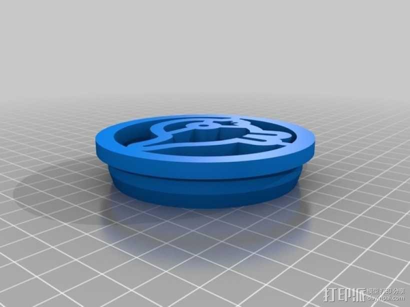 小鸟形饼干制作切割刀 3D模型  图3