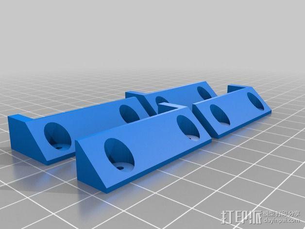 搁板固定夹 -- 可用来固定木板 3D模型  图2