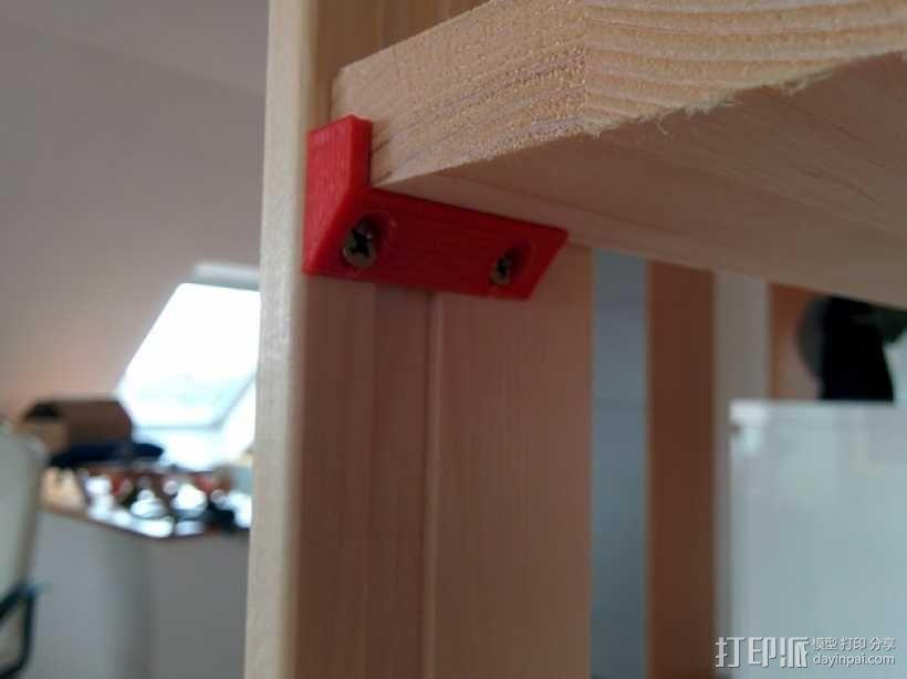 搁板固定夹 -- 可用来固定木板 3D模型  图1
