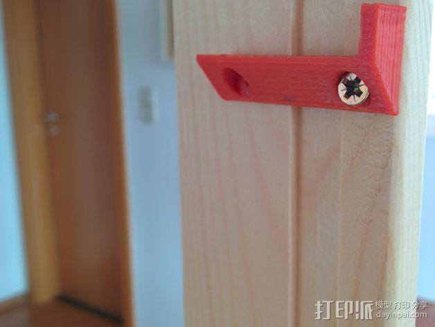 搁板固定夹 -- 可用来固定木板 3D模型  图3