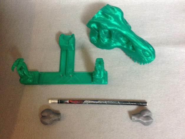 恐龙形浴室用品四件套 3D模型  图8