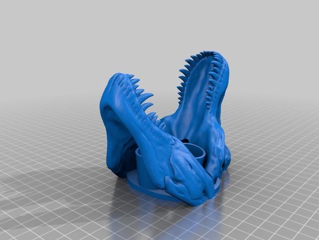 恐龙形浴室用品四件套 3D模型  图13