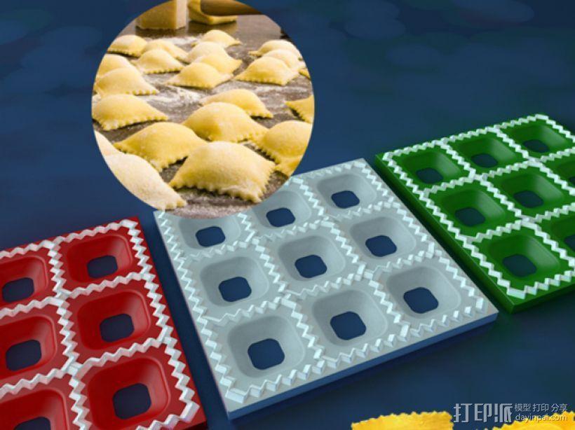 方形饺子制作模具 3D模型  图1