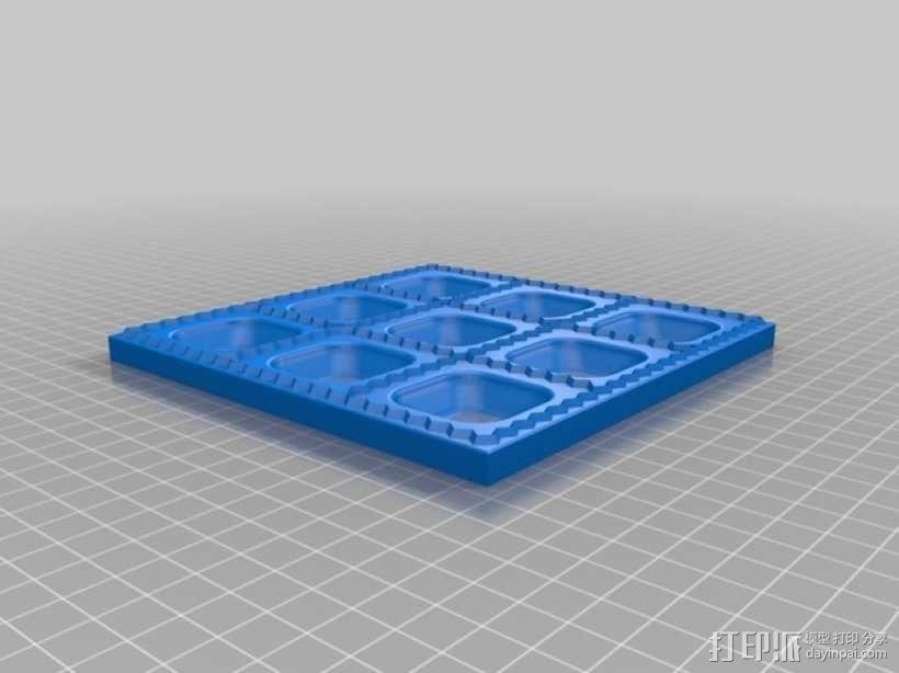 方形饺子制作模具 3D模型  图2