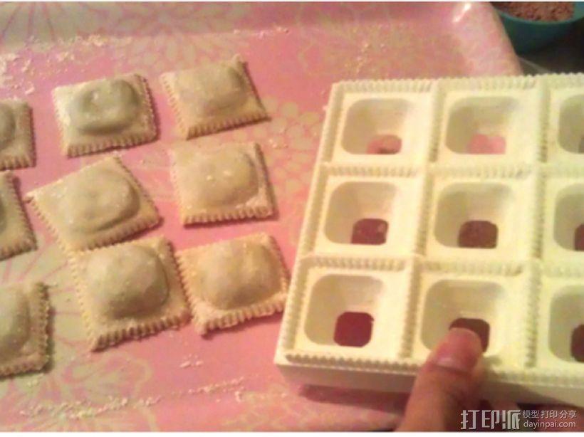 方形饺子制作模具 3D模型  图4