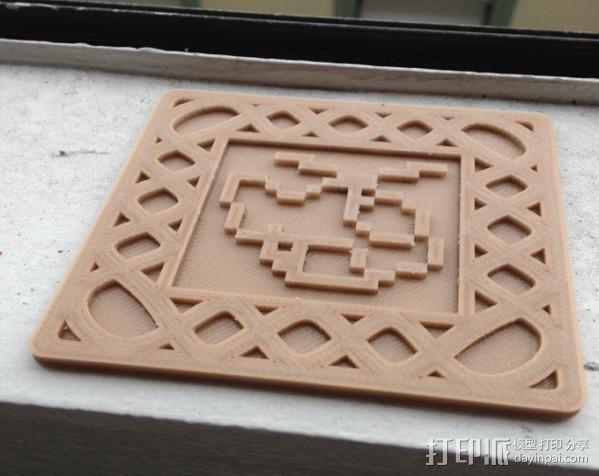 正方形游戏杯垫 3D模型  图4