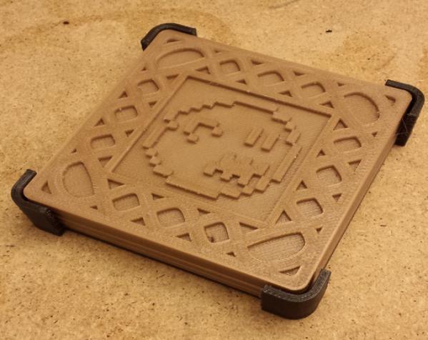 正方形游戏杯垫 3D模型  图3