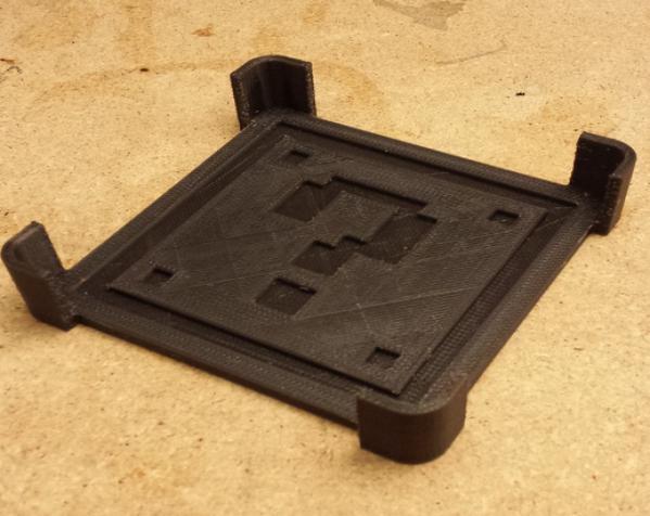 正方形游戏杯垫 3D模型  图2