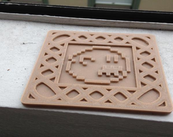 正方形游戏杯垫 3D模型  图8