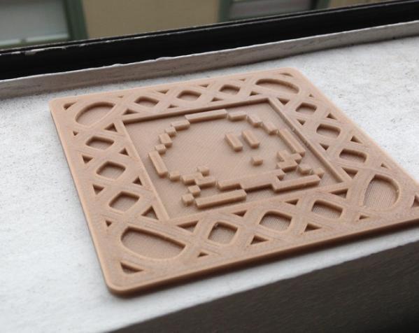 正方形游戏杯垫 3D模型  图6