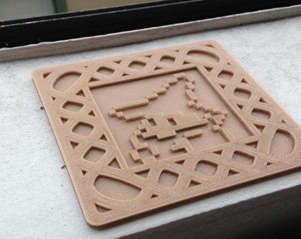 正方形游戏杯垫 3D模型  图5
