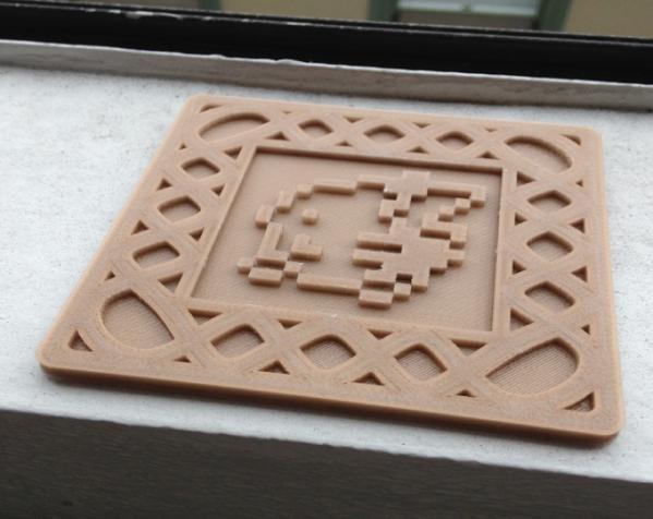 正方形游戏杯垫 3D模型  图11