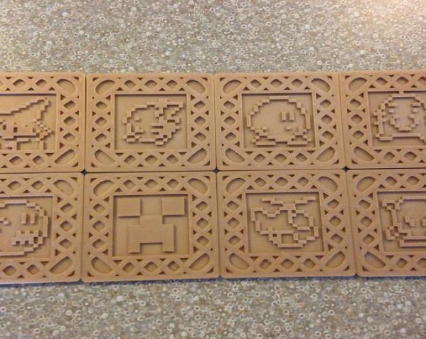 正方形游戏杯垫 3D模型  图12