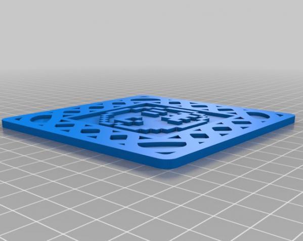 正方形游戏杯垫 3D模型  图13