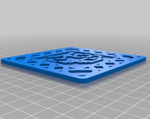 正方形游戏杯垫 3D模型  图15