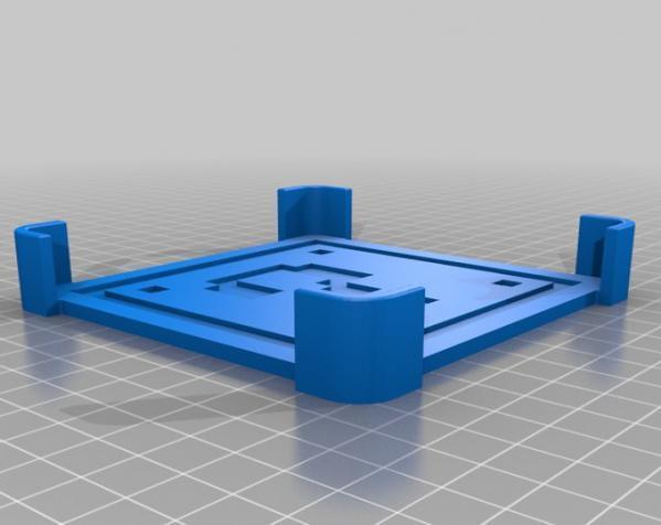 正方形游戏杯垫 3D模型  图21