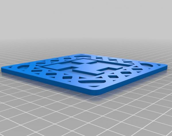 正方形游戏杯垫 3D模型  图19