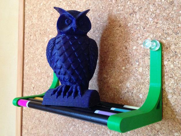 迷你铅笔架子 3D模型  图1