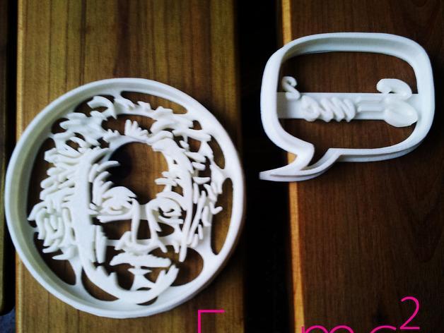 爱因斯坦饼干制作切割刀 3D模型  图4
