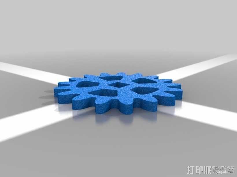 行星齿轮名片盒 3D模型  图4