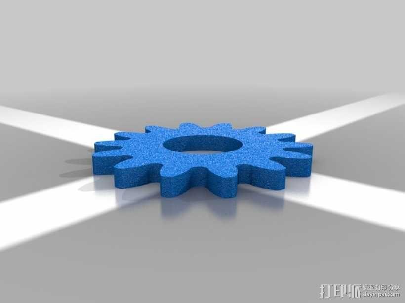 行星齿轮名片盒 3D模型  图6