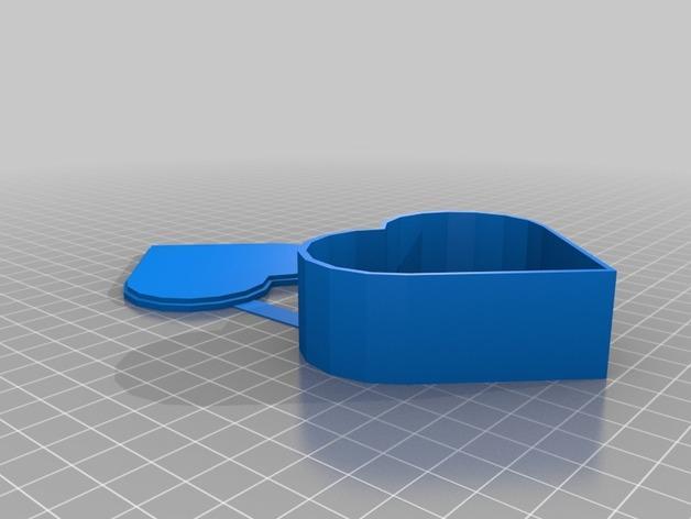 心形礼物盒 3D模型  图3