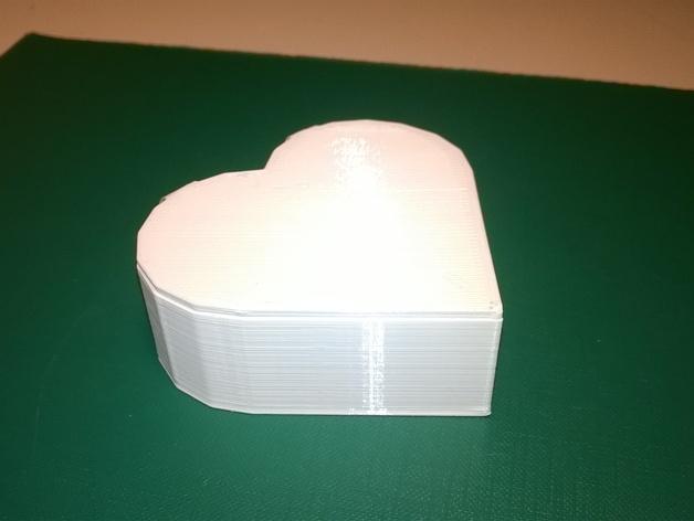 心形礼物盒 3D模型  图2