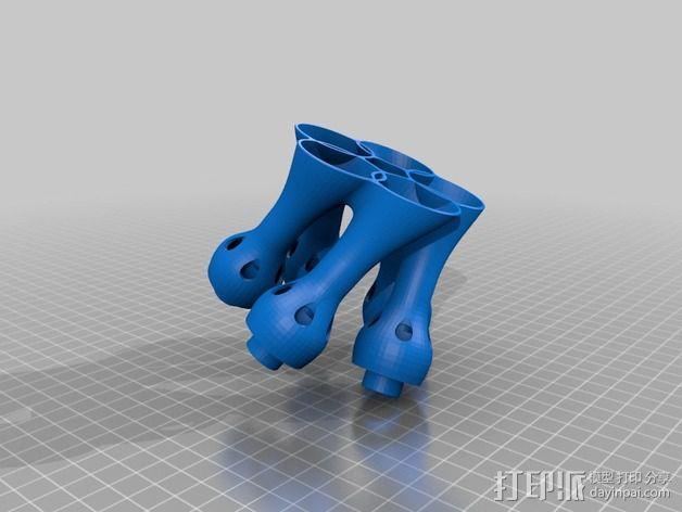 Snoozle笔筒 3D模型  图2
