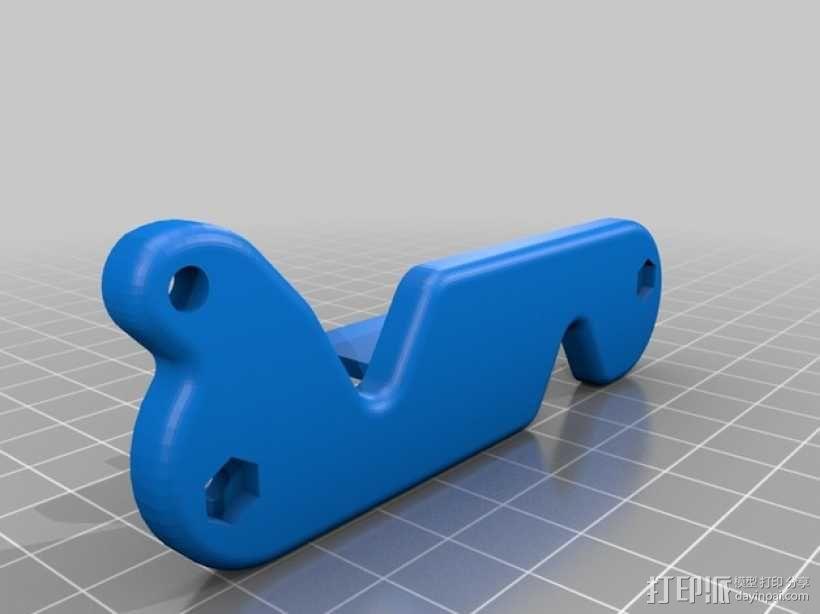 瑞士刀形钥匙环 3D模型  图4
