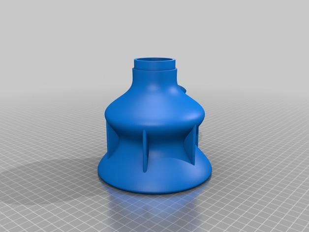 双给料盒的水烟筒 3D模型  图2
