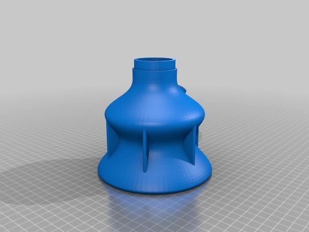 双给料盒的水烟筒 3D模型  图7