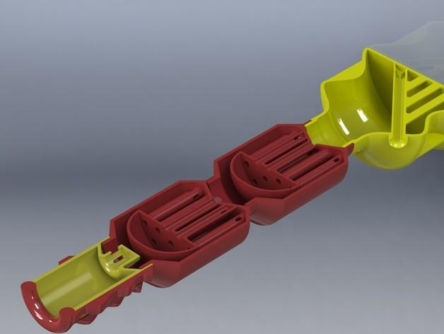 双给料盒的水烟筒 3D模型  图6