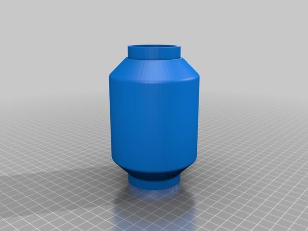 双给料盒的水烟筒 3D模型  图8