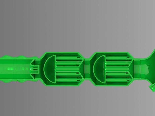 双给料盒的水烟筒 3D模型  图10