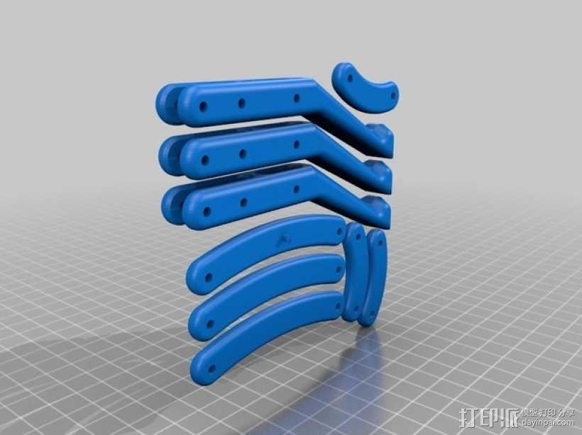 爪形苹果采摘机 3D模型  图7