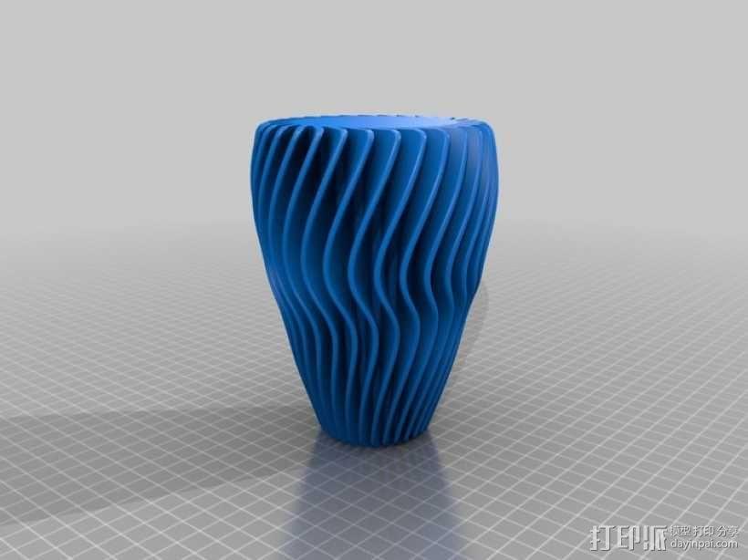波浪形灯罩mk2 3D模型  图3