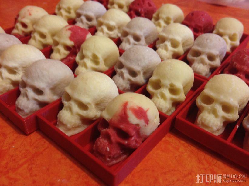 骷髅头形白巧克力模具 3D模型  图1