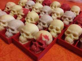 骷髅头形白巧克力模具 3D模型