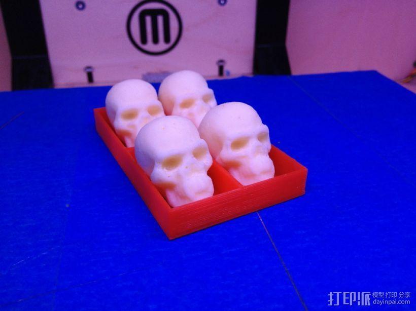 骷髅头形白巧克力模具 3D模型  图4
