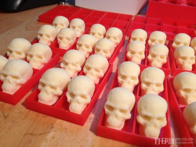 骷髅头形白巧克力模具 3D模型  图3