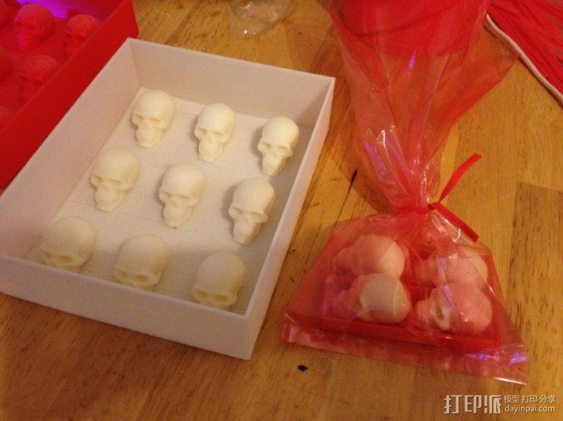 骷髅头形白巧克力模具 3D模型  图9