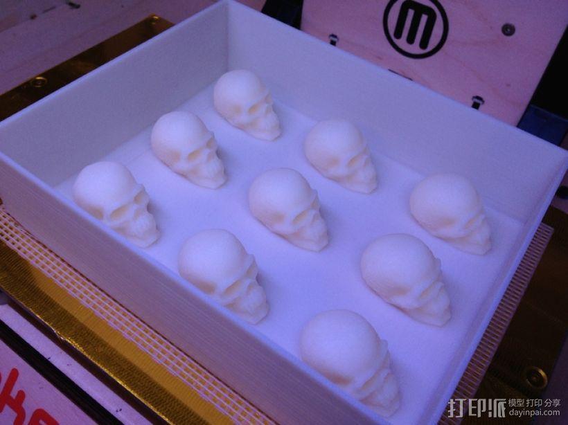 骷髅头形白巧克力模具 3D模型  图12