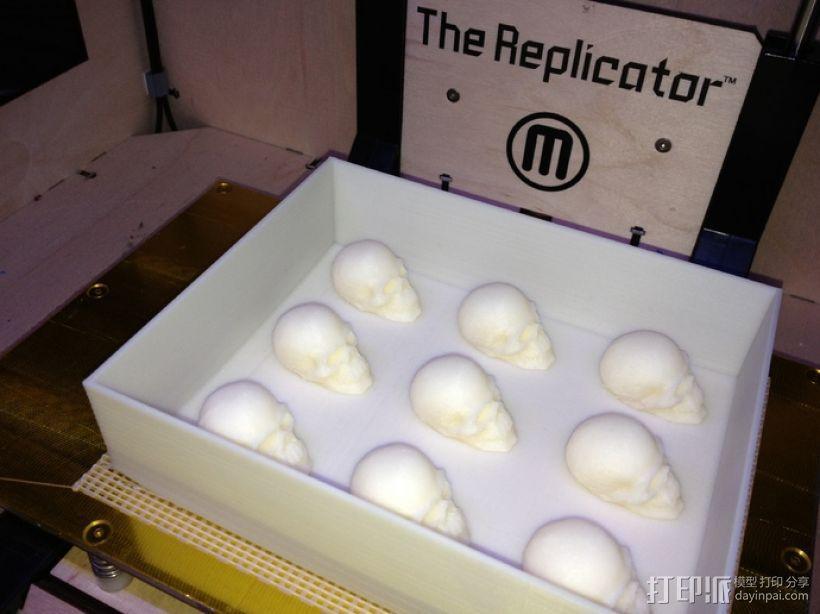 骷髅头形白巧克力模具 3D模型  图11