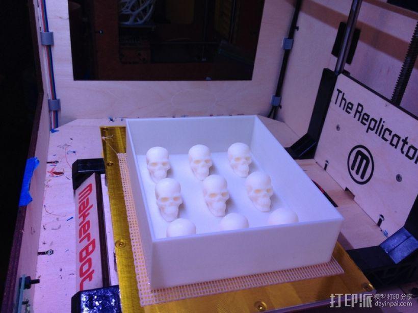 骷髅头形白巧克力模具 3D模型  图13