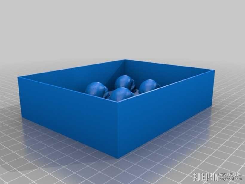 骷髅头形白巧克力模具 3D模型  图15
