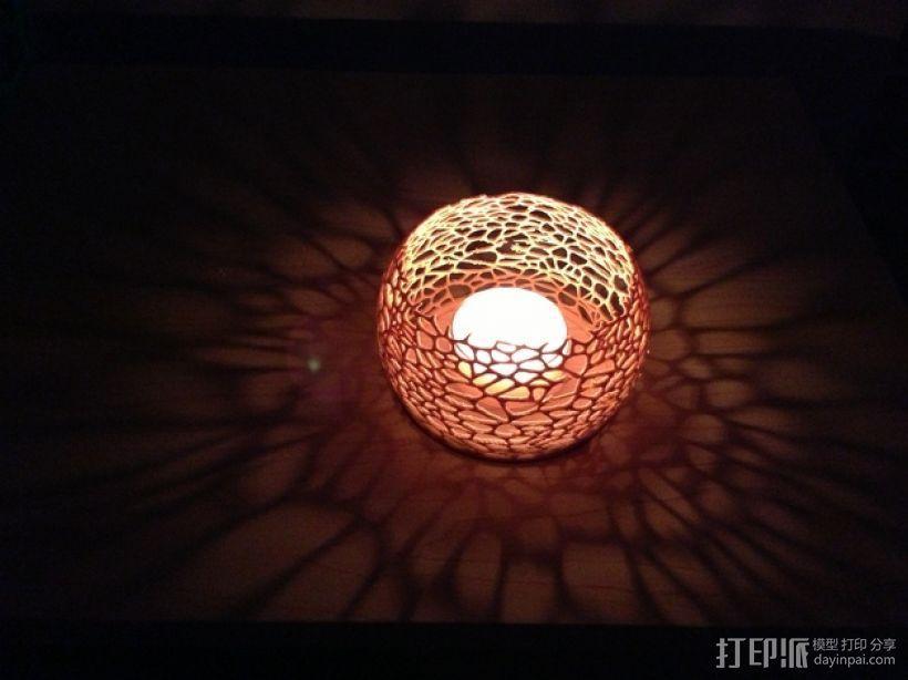 镂空蜡烛固定装置 3D模型  图1