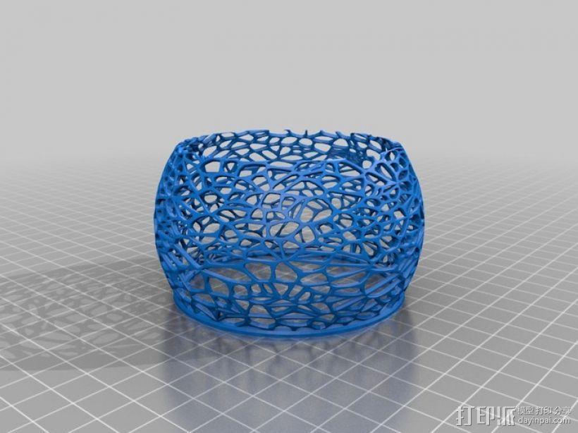 镂空蜡烛固定装置 3D模型  图4