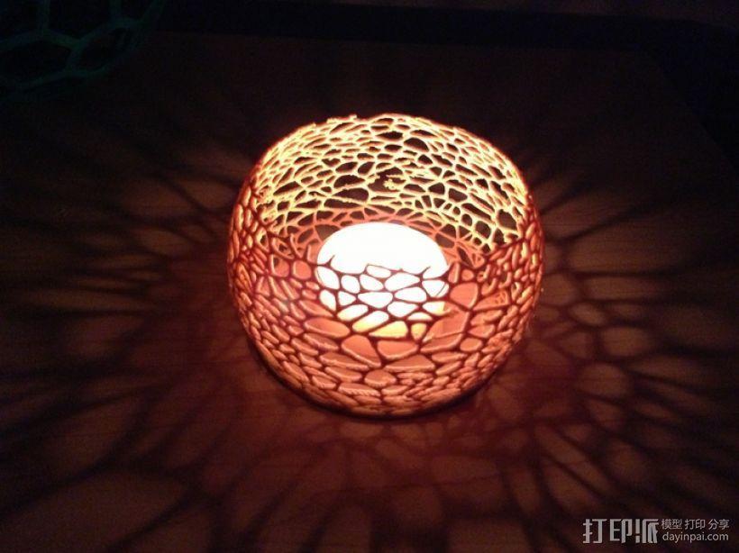 镂空蜡烛固定装置 3D模型  图2