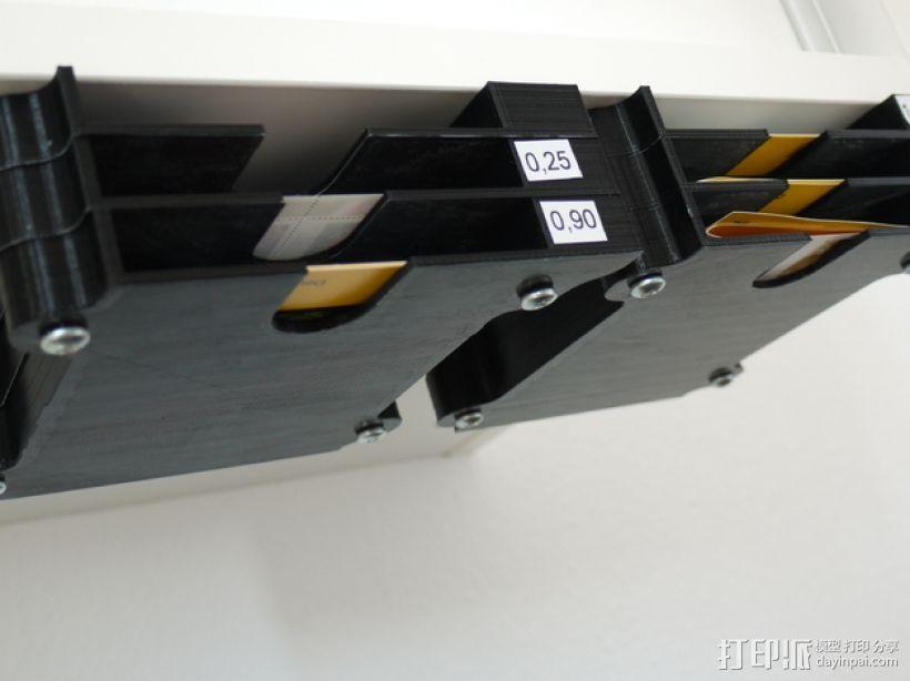 堆叠式柜底信件盒 3D模型  图1