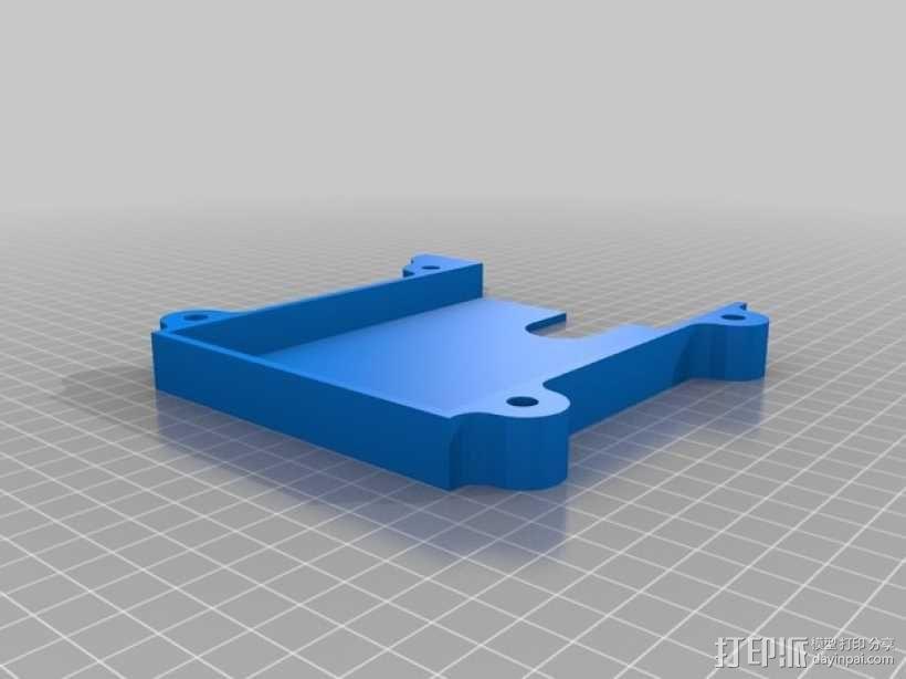 堆叠式柜底信件盒 3D模型  图2